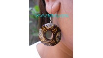 Ball Painted Wood Earring