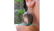Ball Steel Wooden Sono Earring