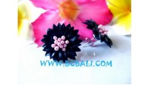 Beads Leather Earring