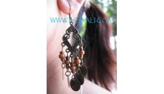 Beads Woods Earrings
