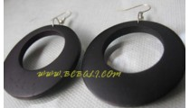 Black Earring Wooden