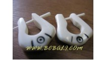 Bone Carved Earring
