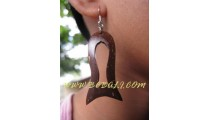 Carved Wooden Coco Earrings