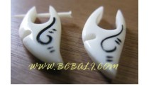 Carving Bone Earring