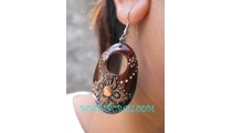 Classic Painting Wooden Earring