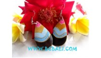 Colored Wood Earrings
