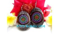 Ear Stud Wooden Hand Painting
