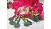Fashion Wood Beads Earrings
