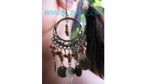 Fashion Wooden Beading Earrings