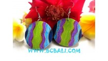 Hawaii Woods Earring Painting