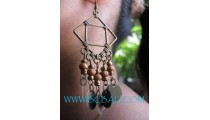 New Beads Woods Earring