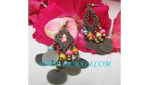 Women Wooden Bead Earring