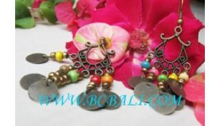 Wood Bead Earring