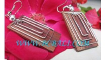 Wooden Earring With Stainless