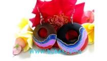 Wooden Earrings Painted