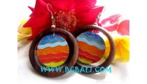 Woods Painting Earring Jewelry
