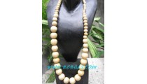 Beads Ball Wooden Necklace