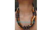 Beads Wood Necklaces Choker