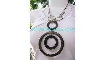 Circle Wood Necklaces