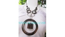 Circle Wooden Necklaces