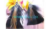 Colored Feather Earrings