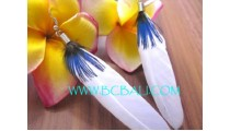 Drop Earring Feather For Ladies