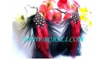 Earring By Feather Material