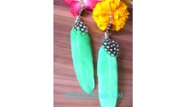 Feather Earrings For Fashion