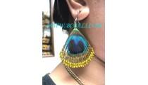 Feather Earrings Handmade