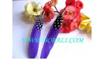 Feather Earrings Handmde