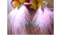 New Design Fur Earring Handmade