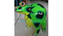 Wood Painted Frog