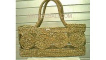 Jute Straw Handbags Natural