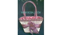 Ladies Fashion Straw Flower Bags