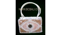 Natural Emboirdery Handbag