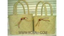 Pandanus Handbag Set 2