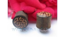 Coconut Wooden Plug Tribal