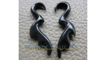 Costume Earrings Tribal Horn Sickles Claw