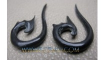 Costume Tribal Earring Carving Fake Earring