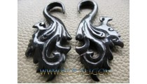Earrings Carving Horn Tribal Sickles Claw