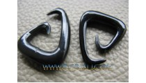 Earrings Horn Tribal Solid Hooked