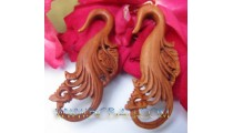 Elegant Tribal Carving Wooden Hooks