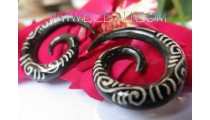 Fashion Tattoo Horn Earring