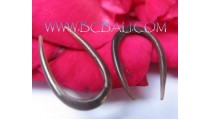 Simple Horn Hooked Earring