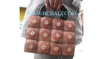 Coconut Carved Medium Bag