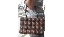 Coconut Wooden Handbags Carving
