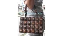 Coconut Wooden Handbags Carving