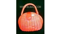 Cosmetic Rattan Handbag