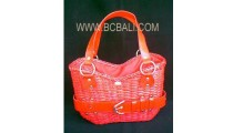 Leather Casual Fashion Rattan Handbag