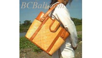 Leather Rattan Bags